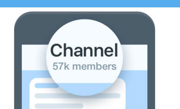 عکسی از تعداد اعضای کانال تلگرام
