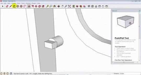 تصویری از محیط آموزش اسکچاپ 3