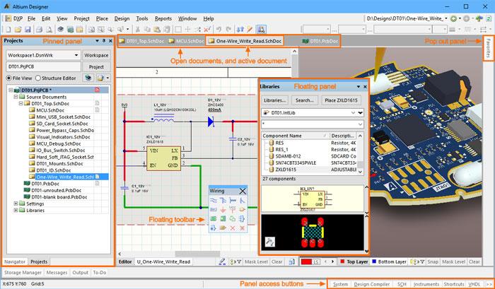 altium designer UI