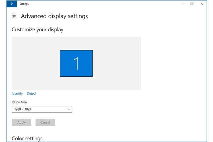 تنظیم اندازه صفحه نمایش