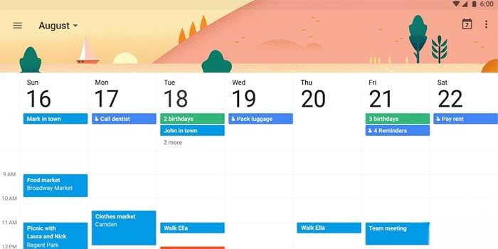 تقویم-گوگل