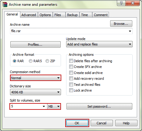 C:\Users\PC\Desktop\specify-archive-file-size-and-compression-method.png