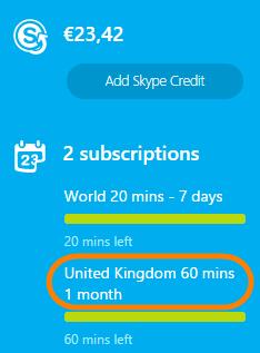 Cancel Skype subscriptions