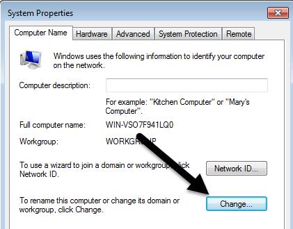 change computer name