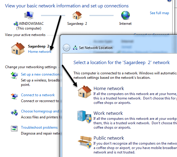 change network type