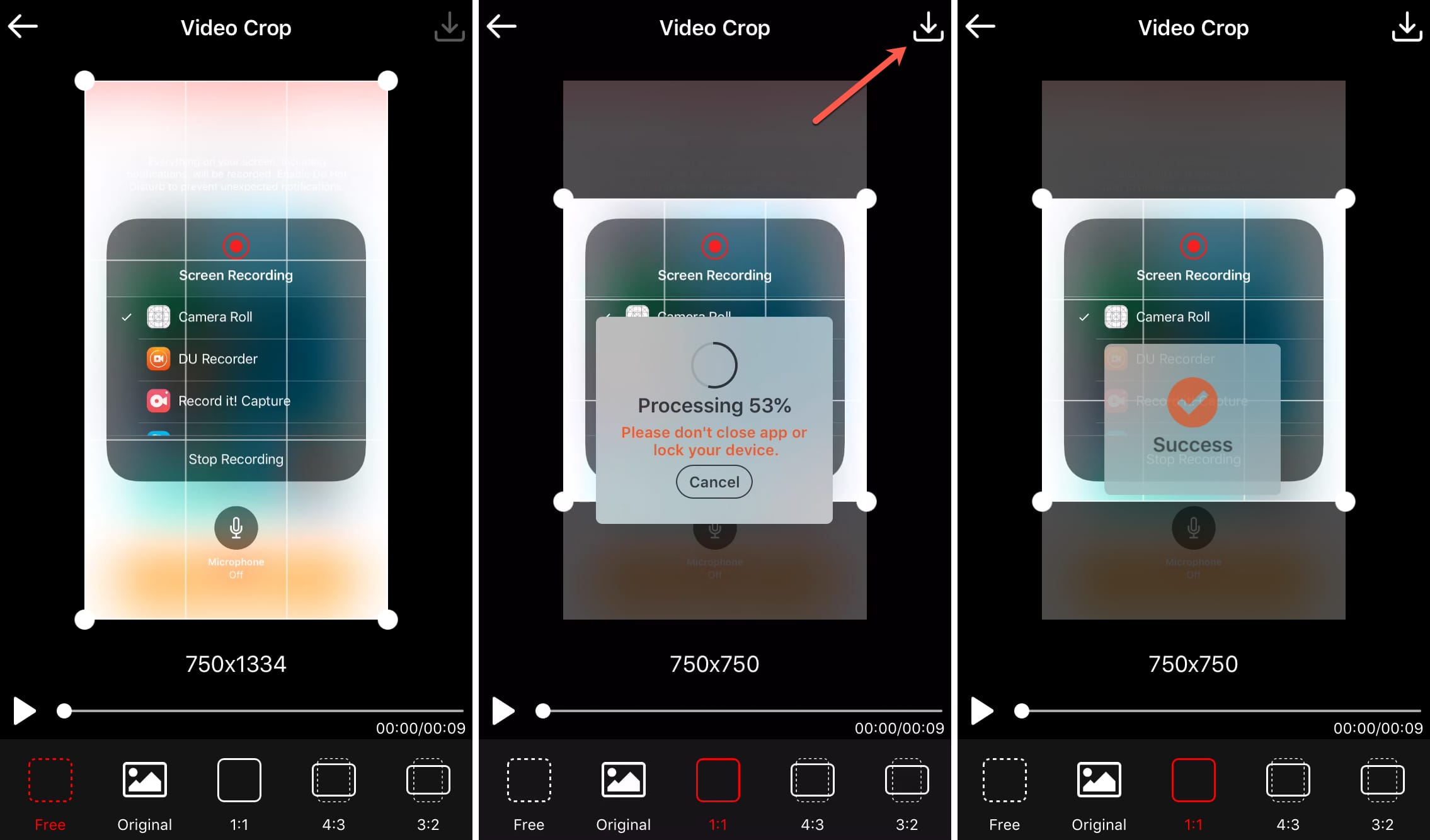 Crop Video Crop App on iPhone