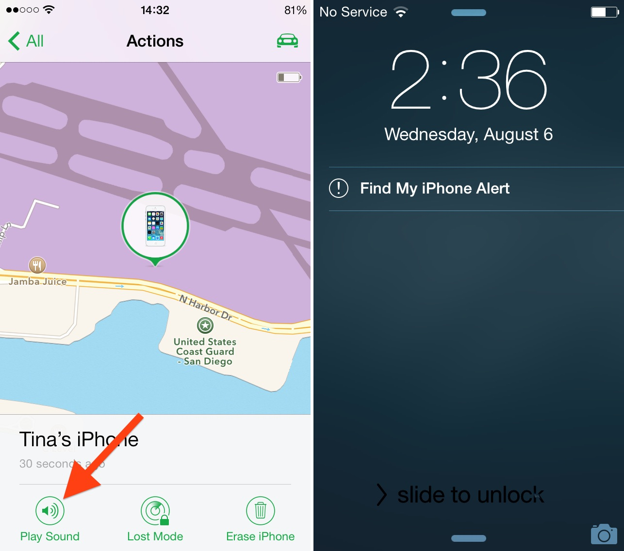 Find My iPhone Play Sound