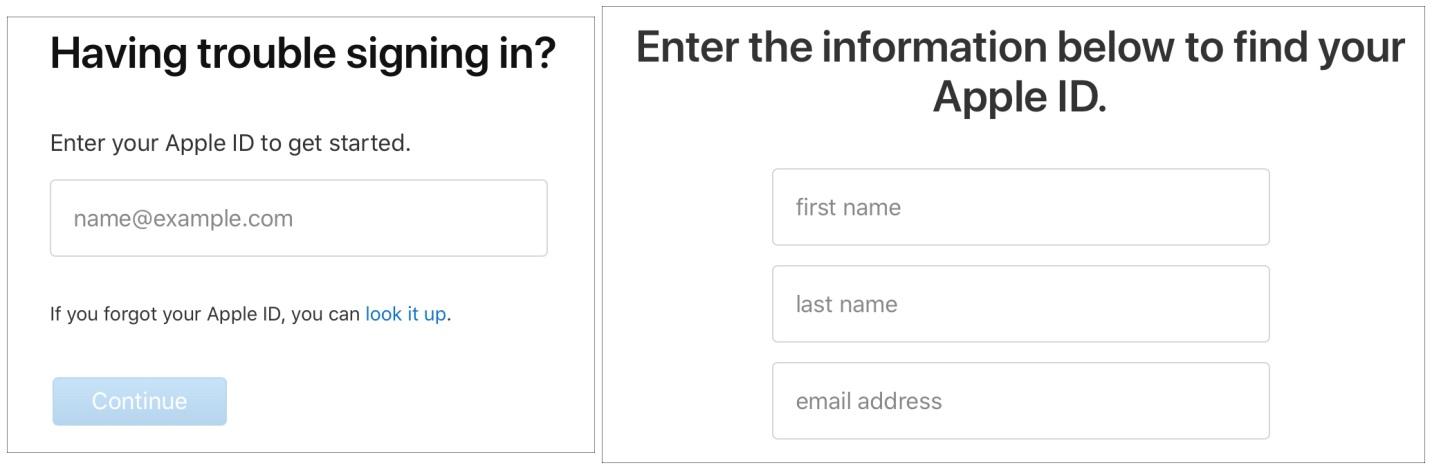 Forgot Password iCloud Apple Account Site