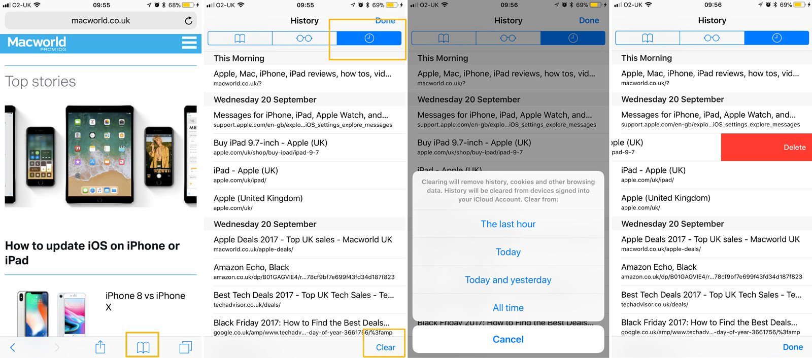How to delete internet browsing history on iPhone & iPad: iOS 11
