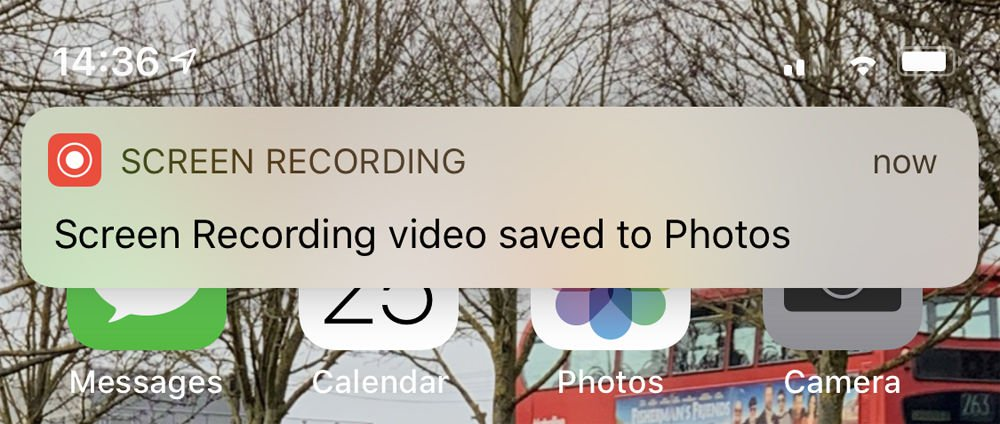 How to record screen on iPhone: Video saved to Photos