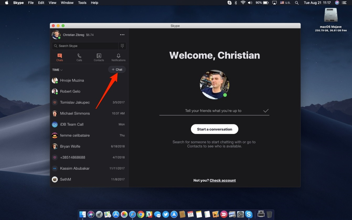 howto skype encryption start Private Conversation in Mac app
