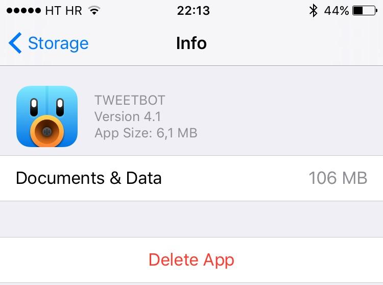 iOS 9 Manage Storage iPhone screenshot 003
