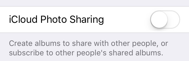 iOS 9 Turn off iCloud Photo Sharing iPhone screenshot 001