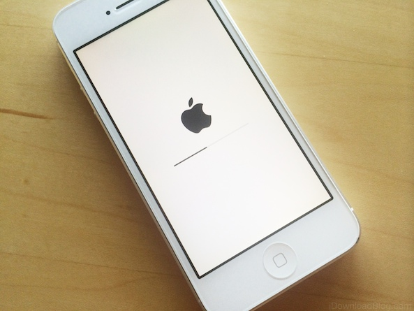 iPhone being restored