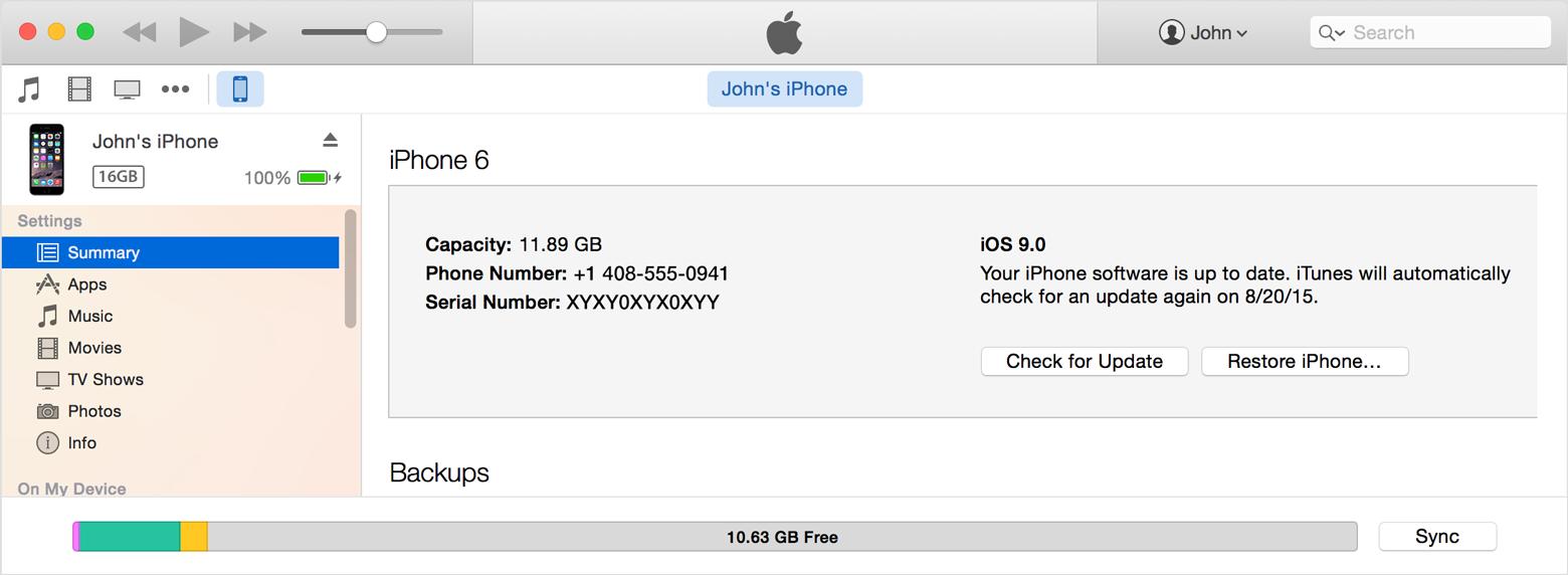 iTunes Check for Update Mac screenshot 001