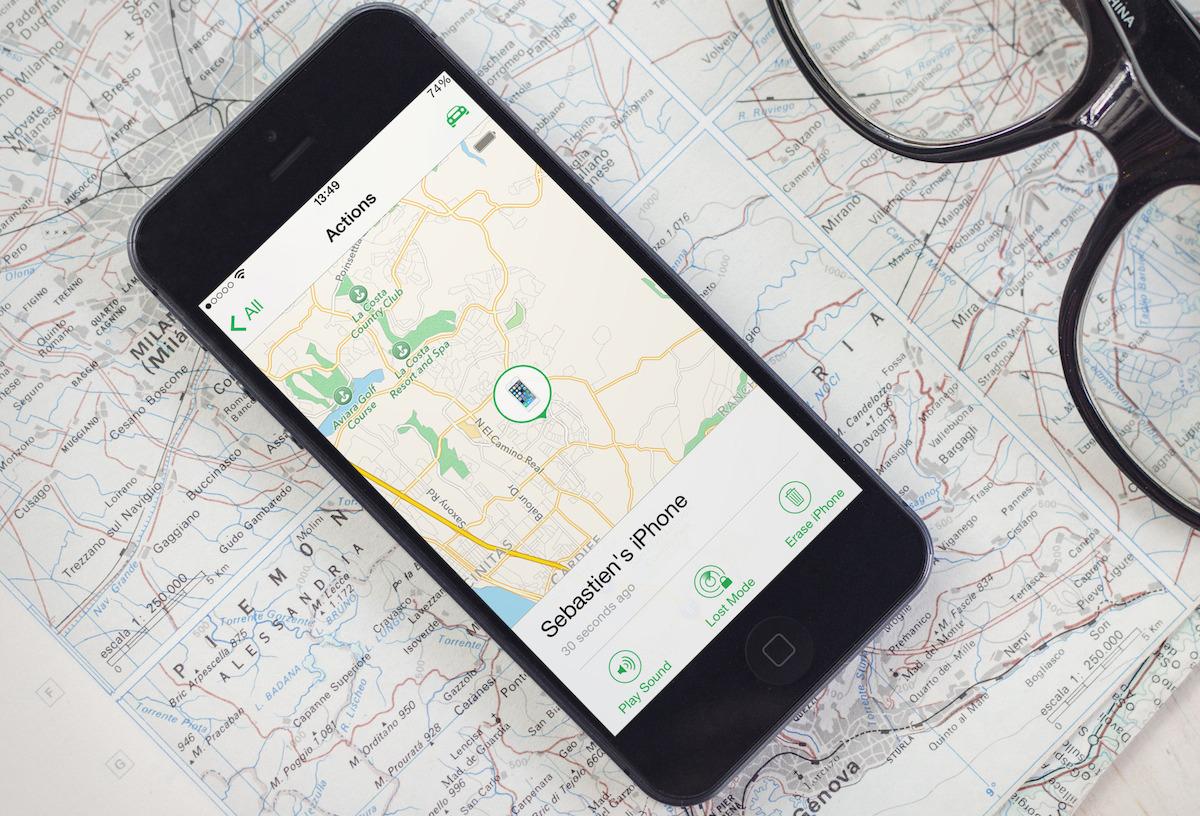 Locate find my iPhone map