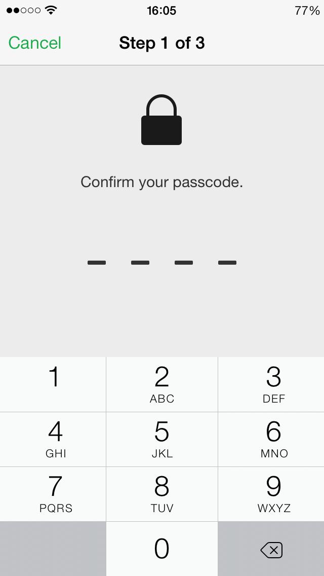 Lost Mode create passcode