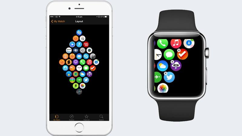 Organise your Apple Watch home screen