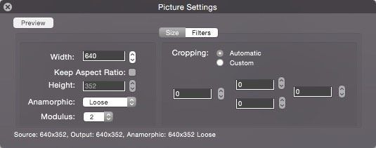 picture settings