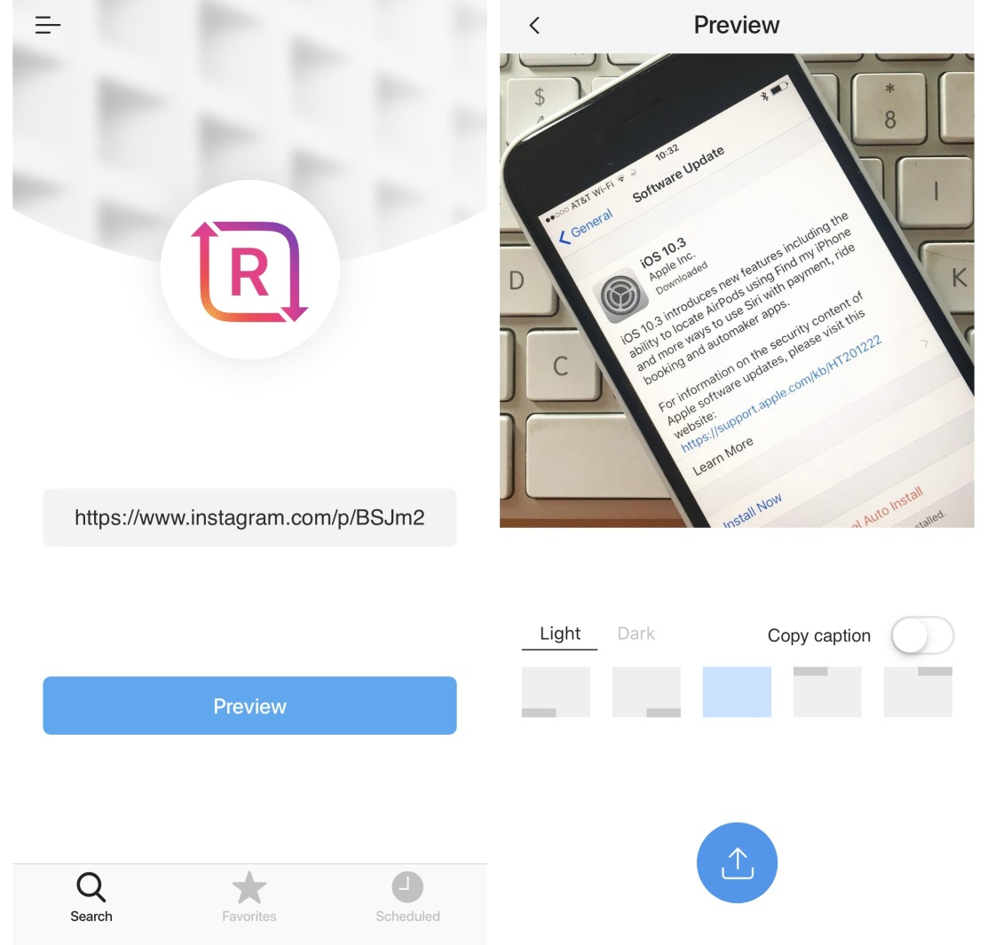 preview instagram photo