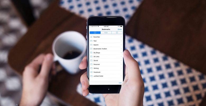 Safari Bookmarks on iPhone