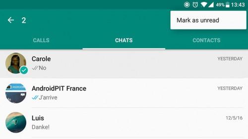 Whatsapp tips and tricks-Mark as unread
