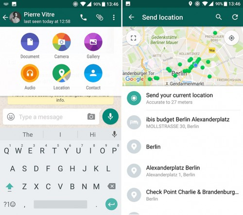 Whatsapp tips and tricks-share locations