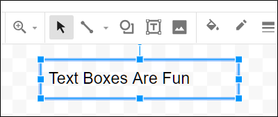 Enter some text into the empty text box