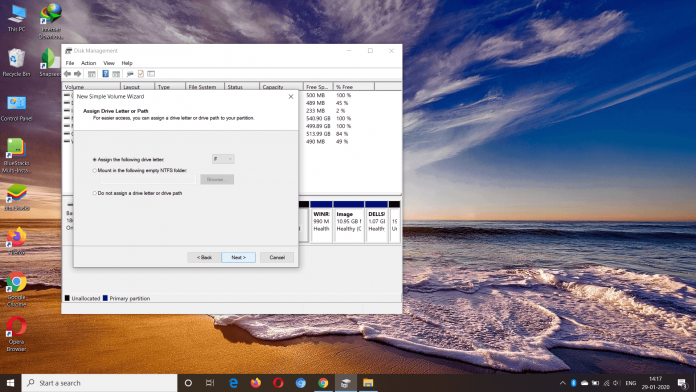 Make Partition In Windows