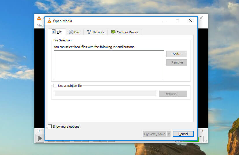 Reducing video file size with VLC convert