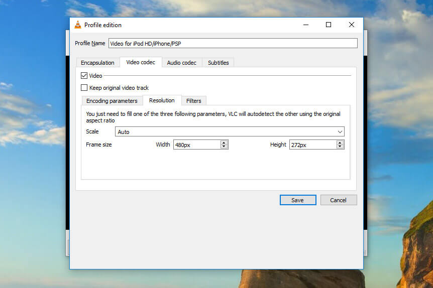Resize your video file