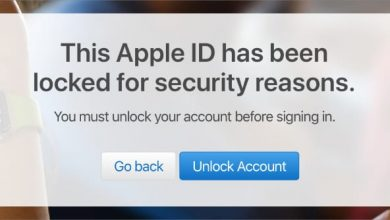This account has been locked disabled Apple ID message