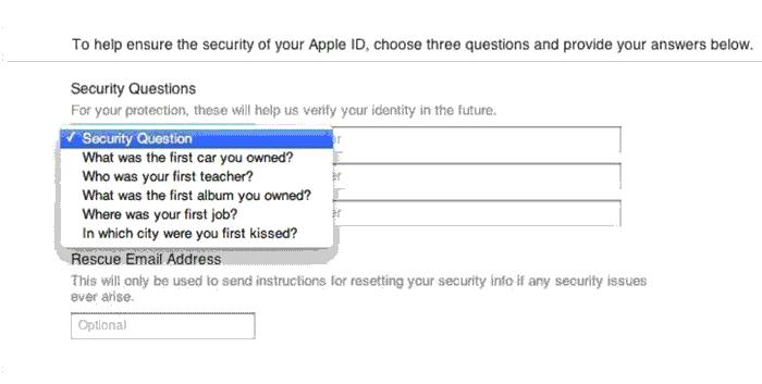 سوالات اپل آیدی