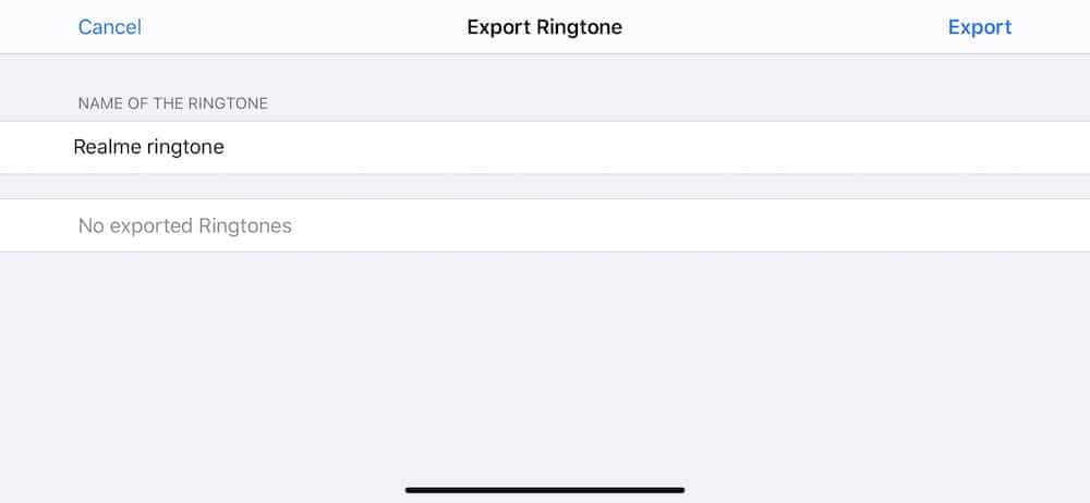 Garageband - Export Ringtone