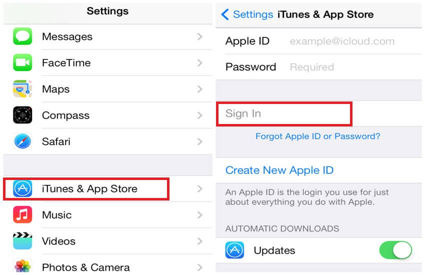 Login to icloud account with apple id details