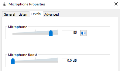 Microphone Properties In Windows
