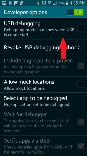 PdaNet USB debugging