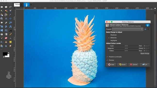 Photo Editor Software & Apps with Texting Feature - GIMP
