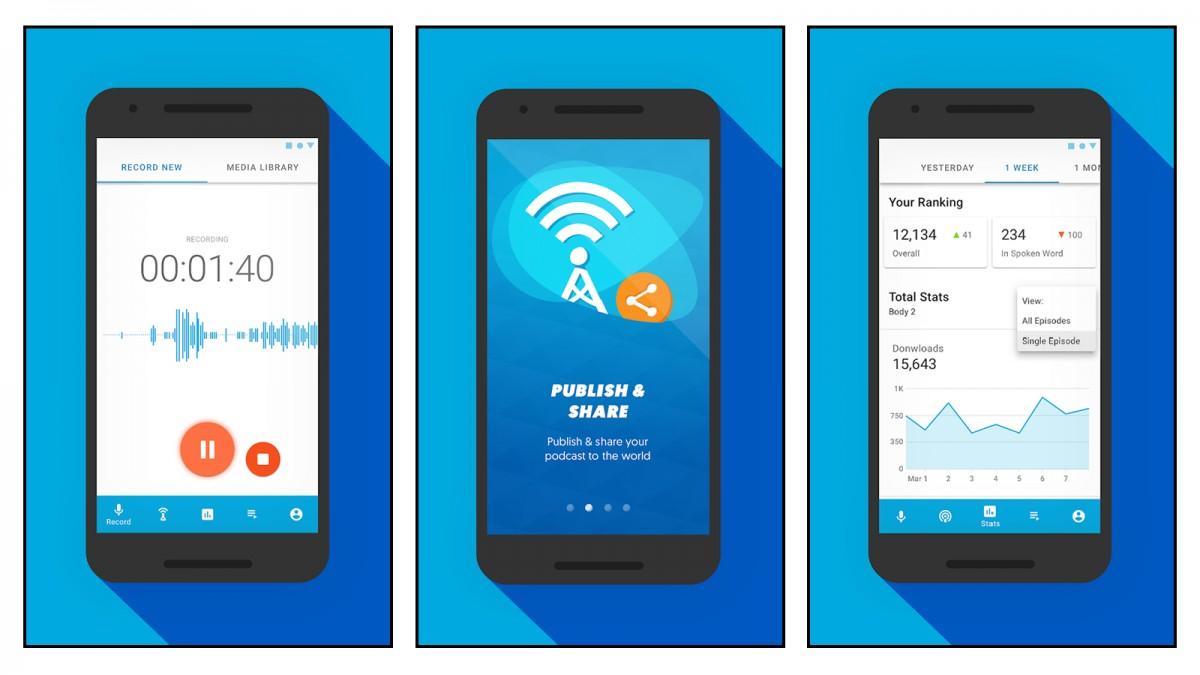 Podomatic app screenshots