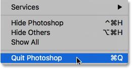 Quitting Photoshop.
