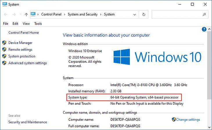 این ویندوز 64bit هست