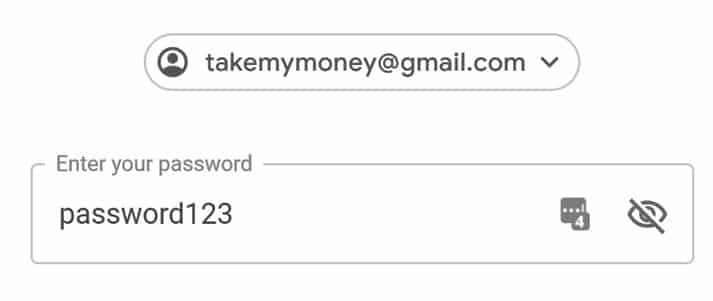 easy password email account
