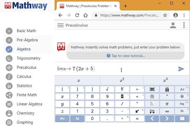 Mathway Precalculus Problem solved