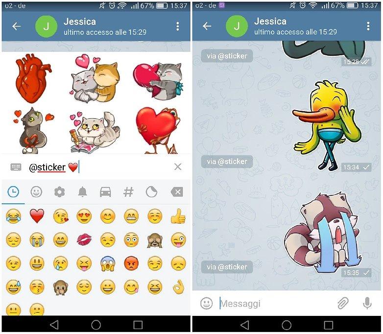 telegram sticker love