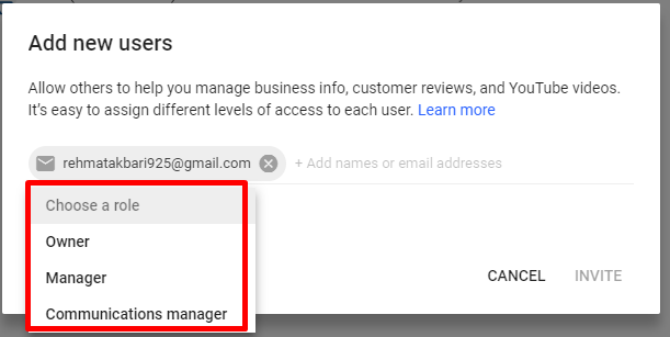 Type manager Gmail