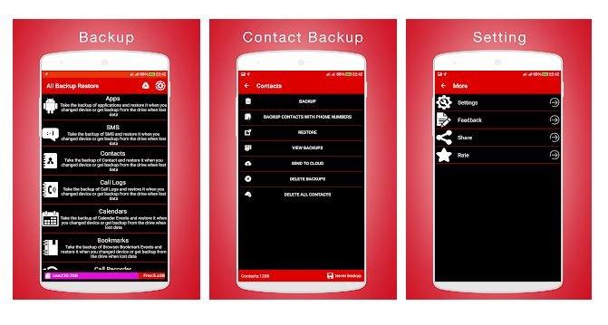 All Backup Restore Application