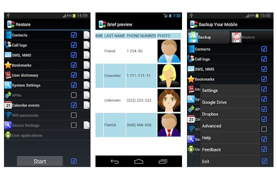 Backup Your Mobile Android App