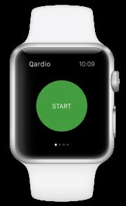 Blood pressure apple watch Qardio App Start Button