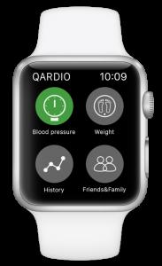 Blood pressure apple watch Qardio App