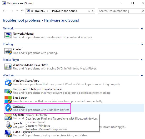 Bluetooth Troubleshooting
